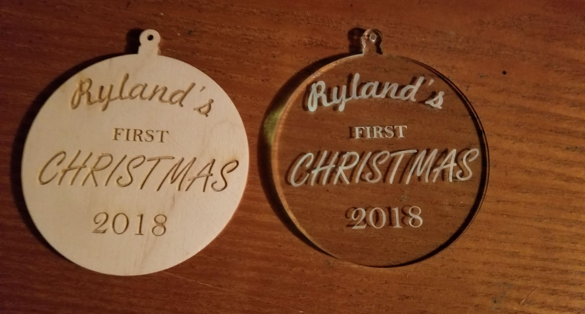 Laser Cut Ornaments