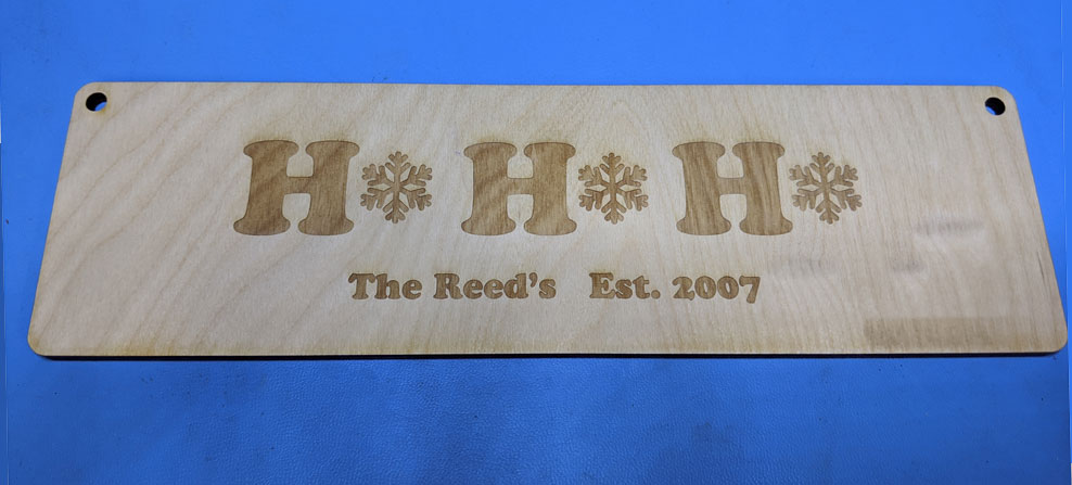 Laser Cut Family Sign