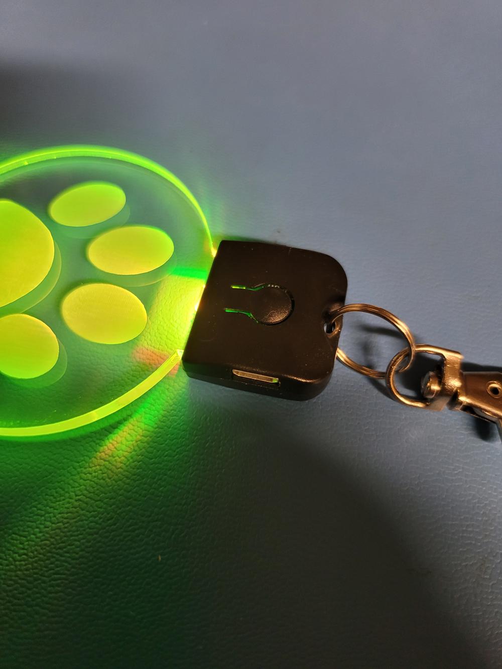 Keychain New - Laser cut light-up keychain